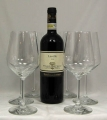 6 glasses for red wine of serial Harmony Nr. 53 from Rastal plus 1 bottle organic red wine 